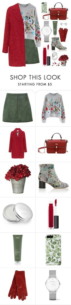 """""""Perfect matching"""" by lou-lou-di ❤ liked on Polyvore featuring George J. Love, Chicwish, rag & bone, Zelens, MAC Cosmetics, Salvatore Ferragamo and Jewelonfire"""