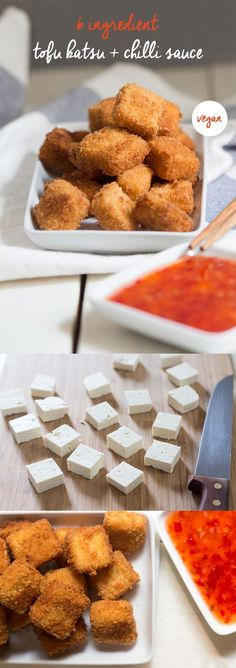 They tasted like fish stick tater tots or something but reeeeally good 6 ingredient, crispy #tofu  It's best enjoyed with a side of sweet chilli sauce (or ketchup)