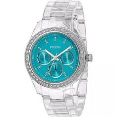 Just bought this for myself as a congratulations present! Haha.  Fossil Stella Crystallized Turquoise Glitz Multifunction Women's Watch ES2603