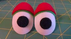 This guy makes really cool puppet eyes -Christmas Eyes on Etsy, $4.00