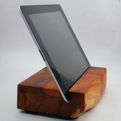 Wood tablet stand
