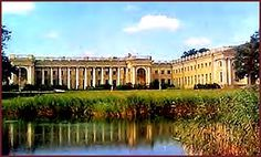 Alexander Palace, Tsarskoye Selo, or Pushkin, outside St. Petersburg, Russia.  The home of Nicholas II and Alexandra.