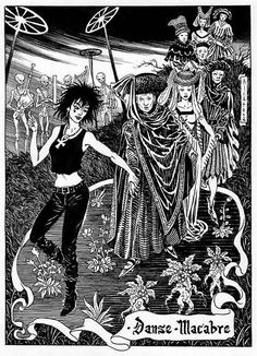 Neil Gaiman´s Endless - Death by Enrique Alcatena Memento Mori, Death Sandman, Enter Sandman, Danse Macabre, Comic Art, Comic Books, Beautiful Dark Art, Bristol Board, Bd Comics