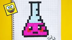 Handmade Pixel Art - How To Draw a Whale Faire Du Pixel Art, Image Pixel Art, Art Minecraft, Minecraft Crochet, Modele Pixel, Pixel Drawing, Graph Paper Art, Drawings Of Friends, Unicorn Crafts