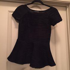 Zara peplum top Zara black peplum top. 100% polyester. Made in Portugal. No trades. PERFECT condition! Zara Tops Blouses