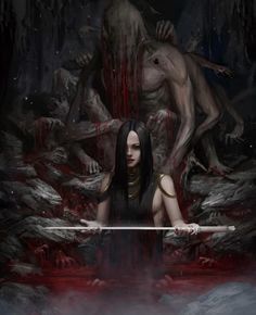 Celtic Fantasy Art, Dark Fantasy, Scary Art, Very Scary, Scary Wallpaper, Halloween Gif, Fantasy Concept Art, Horror Comics, Dark Souls