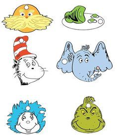 Dr Seuss Printables Dr Seuss Character Gift Tag Set Pdf File On