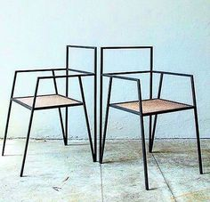 """Argentinian architecture has designed a collection of minimal furniture based around simple steel frames. The Alpina range includes a chair,…"" Iron Furniture, Modern Furniture, Home Furniture, Furniture Design, Business Furniture, Furniture Plans, Luxury Furniture, Outdoor Furniture, Metallic Furniture"