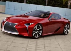 Lexus LF-Lc a low initial concept made its debut with customers eager to see the model at the auto show at the 2012 North American International Auto Show (NAIAS) in Detroit, Michigan