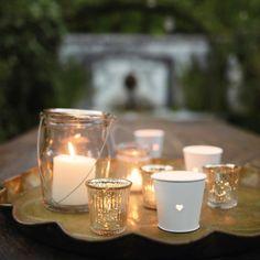 Mercury Ribbed Tealight Holder | The White Company