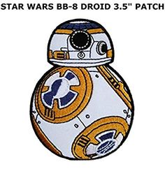 Superheroes BB8 Embroidered Iron/Sew-on Applique Patches