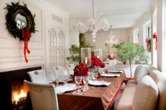 white dining