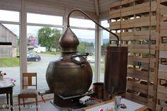 Utstyret, ja. Stillen Peder har kjøpt er av typen alembic. Den er håndlaget og i 100 % kobber, men har en litt annen fasong enn de fleste skotske potstills (selv om de også teknisk sett er alembic stills). *Old hoga pot still made by Hoga Company - http://www.hogastills.com
