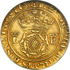 Coin from the reign of Henry VIII during his marriage to Katherine of Aragon.