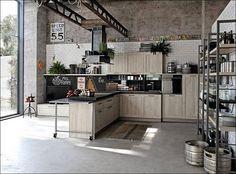 98 кухонь в промышленном стиле