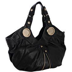 Gustto black leather 'Budelli' shoulder bag ❤ liked on Polyvore