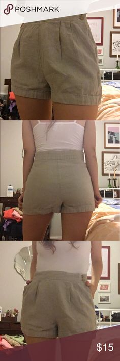 Vintage High Waist Pleated Shorts These were super cool vintage pants I had tailored into shorts. They look really cute with a pair of tights in the fall! Amazing condition. Vintage Shorts