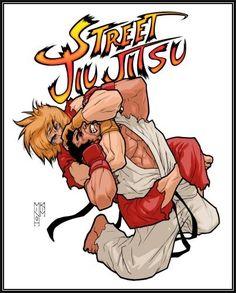 "'Street Jiu Jitsu' ""I made this for a MMA Fightwear company."" Design by: Minoh Kim Material Arts, Jiu Jitsu Frases, Mma, Martial Arts Humor, Jiu Jitsu T Shirts, Kenpo Karate, Art Of Fighting, Fighting Games, Ryu Street Fighter"