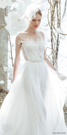 mira zwillinger 2018 bridal strapless sweetheart neckline ruched bodice pretty romantic soft a line wedding dress (ciela) mv