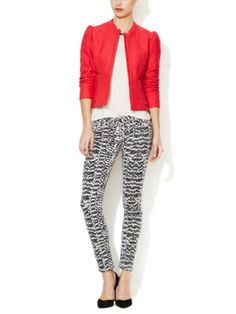 Amelot Printed Denim Jean by Maje on sale now on Gilt.