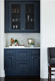 Dark blue Kitchen Cronk and Duch Architecture