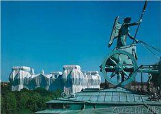 Christo und Jeanne-Claude - Blick vom Brandenburger Tor