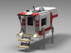 Have a big clumsy motorhome that can't get anywhere? get one of these truck campers! Lego Camper, Lego Truck, Lego Tractor, Lego Police, Lego Pictures, Lego Builder, Lego For Kids, Lego Modular, Cool Lego Creations