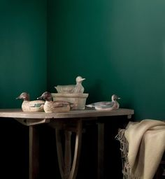 Bottle Green is a dark shade of green, similar to pine green. Just like the colour green, it has healing power and is understood to be the most restful colour. Green Corridor, Flamingo Painting, Living Colors, Cream Walls, Green Colour Palette, Beige Sofa, Home Salon, Painted Paper, Color Pallets