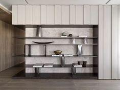 Shelving Design, Shelf Design, Küchen Design, Cabinet Design, Cabinet Furniture, Furniture Design, Bookcase Shelves, Bookcases, New Wall