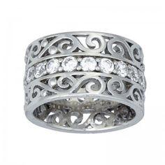 Montana Silversmiths Silver Rhinestone Ring