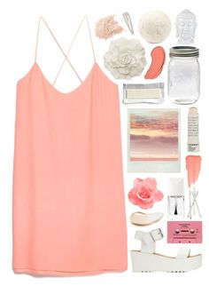 """Sunset"" by jeune-et-jolie ❤ liked on Polyvore featuring MANGO, Charlotte Russe, Burberry, Christian Dior, Korres, NYX, Bobbi Brown Cosmetics, Forever 21, white and Pink"