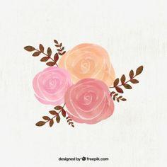Rose acquerello illustrazione