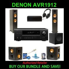Buy New: $2,679.00: Electronics: Denon AVR-1912 7.1 Channel A/V Home Theater Receiver with 2 Klipsch Reference II RF-82 II 150 W RMS Speaker, 2 Klipsch Reference II RS-52 II 100 W RMS Speaker, 1 Klipsch Reference RC-62 II 150 W RMS Speaker, 1 Klipsch SW-112 Subwoofer System - 300 Watt