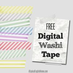 A Typical English Home: Free Striped Digital Washi Tape