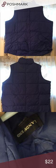 Land's End Purple Puffer Vest Size 3X Super gently preowned. Size 3X Lands' End Jackets & Coats Vests