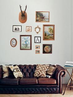 Home Decor Photos: Genius: a collection of vintage finds lets you create an instant gallery wall. #EtsyGermany