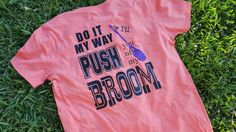 Halloween shirt. Do it my way or I'll push you off my broom. Witch shirt  Halloween shirt. by FlamingoPinksApparel on Etsy