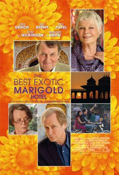 """""""British retirees travel to India to take up residence in what they believe is a newly restored hotel. Less luxurious than its advertisements, the Marigold Hotel nevertheless slowly begins to charm in unexpected ways.""""    Opens 23 March 2012 in Sweden"""