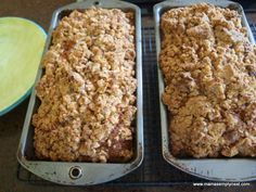 Zucchini Bread baked and cooling