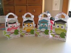 Graduation Owl Gable Favor Boxes Set of 12 by zbrown5 on Etsy