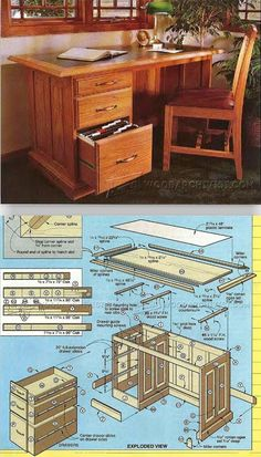 Oak Desk Plans - Furniture Plans and Projects | WoodArchivist.com
