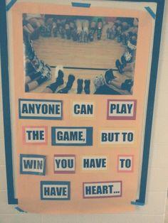 A Volleyball team made a heart with their feet... so cute!! :)