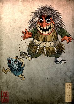 Matsuri / 祭り by gosh and seiko, via Behance Japanese Tattoo Art, Japanese Tattoo Designs, Japanese Painting, Japan Illustration, Graphic Illustration, Arte Indie, Japanese Mythology, Japanese Monster, Japan Tattoo
