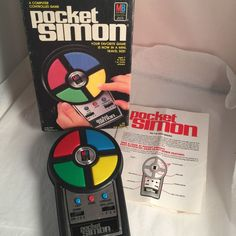 Milton Bradley Pocket Simon 4046 with Original Box. Has Scuffs and Scratches (see photos). | eBay!
