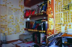 Will Self's writing room. I so understand this! Bedroom Office, Home Office, Writers Desk, Artist Workspace, Writing Studio, Room Of One's Own, Study Motivation, Building A House, Study Hard