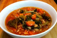 White Bean and Greens Vegetable Soup | JL Fields | JL goes Vegan