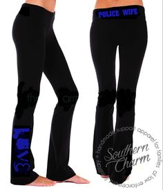 Southern Charm Designs - Love Police Gear LEOW Yoga Pants, $36.00 (http://www.shopsoutherncharmdesigns.com/love-police-gear-leow-yoga-pants/)