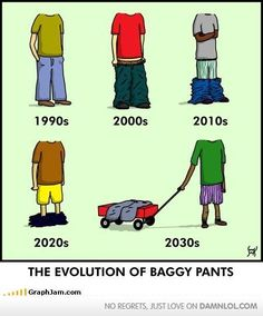 The evolution of baggy pants.