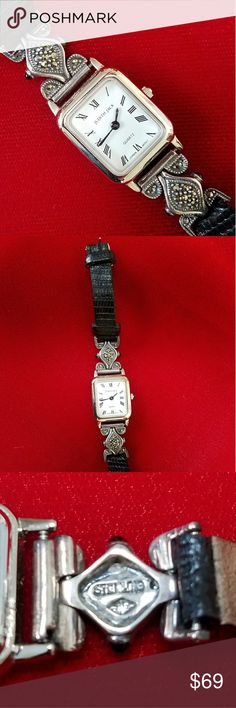 Judith Jack Sterling Marcasite Watch Beaitiful, elegant watch, in sterling with sparkly marcasites, by Judith Jack. Runs accurately; in excellent preowned condition. Judith Jack Accessories Watches