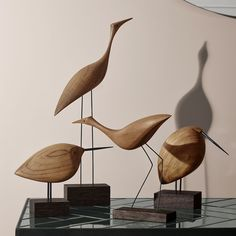 Fantastic Danish Woodwork - Beak Bird Design Collection Manufactured by Warm Nor. - Fantastic Danish Woodwork – Beak Bird Design Collection Manufactured by Warm Nordic Bird Sculpture, Animal Sculptures, Shabby Home, Wood Bird, Nordic Interior, Wooden Art, Bird Design, Design Design, Wood Turning